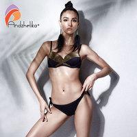 Andzhelika Bikinis Women Swimwear 2018 Summer Sexy Patchwork Bikini Set Brazilian Push Up Swimwear Bathing Suit