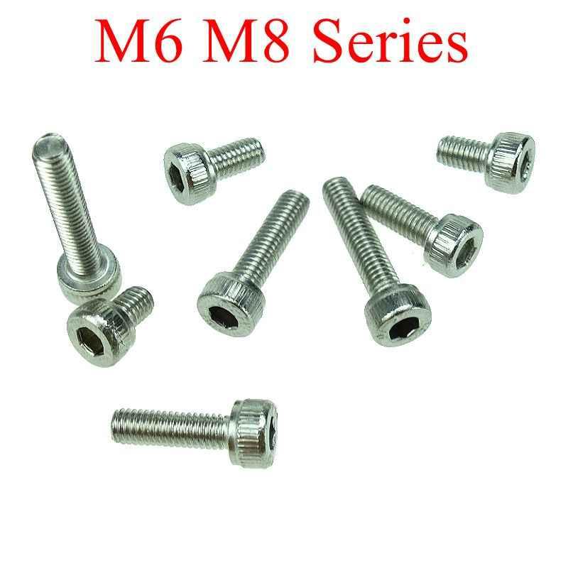 100x M2x8mm hexagonales acero inoxidable tornillos de máquina cabeza hueca 0,4mm