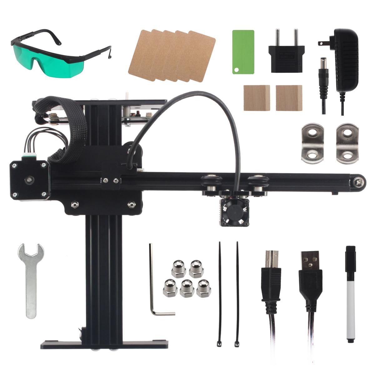 NEJE Master 3500 MW 43*27 cm Mini Machine de gravure Laser 2 axes bricolage graveur bureau bois routeur/Cutter/imprimante + lunettes Laser