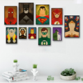 Elegant Poetry Superhero Avenger Flash Cartoon Canvas Painting Art Print Poster Picture Wall Painting Home Decor