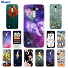 Soft TPU Phone Case for LG K10 K 10 LTE K420N K430 K430DS 5.3 Back Cover Cat Landscape Printing for LG K10 Coque for LG K 10