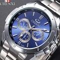 CHENXI 2017 Relógio De Quartzo Homens Top Marca de Luxo Famosos Relógios de Pulso Homem Relógio de Aço Inoxidável relógio de Pulso Masculino Relogio masculino