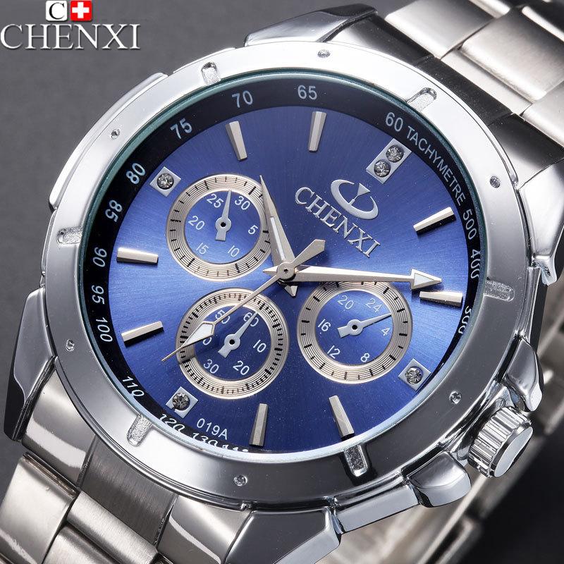 Prix pour Chenxi 2017 quartz montre hommes top marque de luxe célèbre poignet montres homme horloge en acier inoxydable montre-bracelet homme relogio masculino