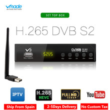 Vmade V5 DVB-S2 HD Digital Terrestrial Satellite Receiver H.265 MPEG-2/4 Support AC3 Cccam Youtube Biss IPTV TV Box+usb wifi цены онлайн