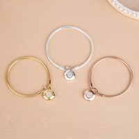 2018 Autumn Silver Smooth Shine Gold Rose Gold Bracelets for Women 925 Silver Signature Padlock Bracelet Fit DIY Jewelry Charms