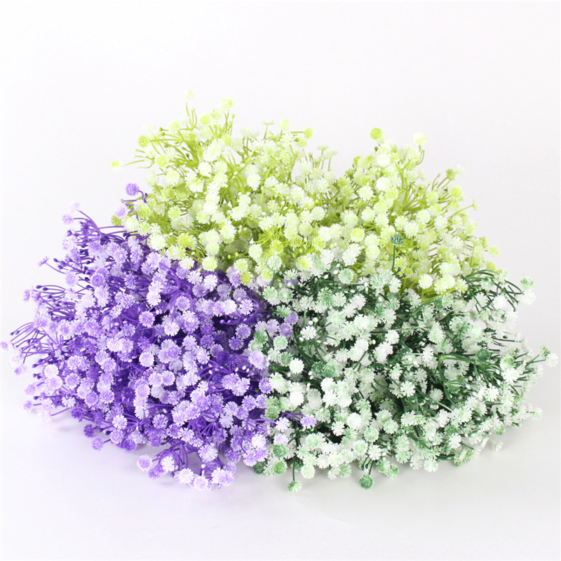 Diy bride bouquet forget me not valentines day fake flower home diy bride bouquet forget me not valentines day fake flower home wedding garden decor plastic artificial flower gypsophila gift in artificial dried mightylinksfo