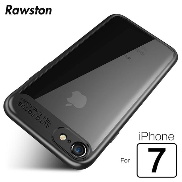 super popular 7fd91 03503 US $2.68 | Premium Hybrid PC+ TPU Clear Case for iPhone7 Auto Focus  Transparent Back soft Edges Cover for Coque iPhone 7 Plus Case i7-in  Half-wrapped ...