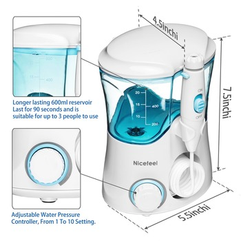 Nicefeel Arbeitsplatte Munddusche Wasser Flosser Dental Wasser Jet Wasser Pick Zahnseide Flosser Waterpick Mundpflege Bewässerung