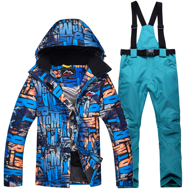 ef417809ea Ski Suit Men Women 2018 New Hot Waterproof Skiing Jacket Clothing Outdoor  Winter Snow Couple Ski Jacket + pants Snowboard suits-in Snowboarding Sets  from ...