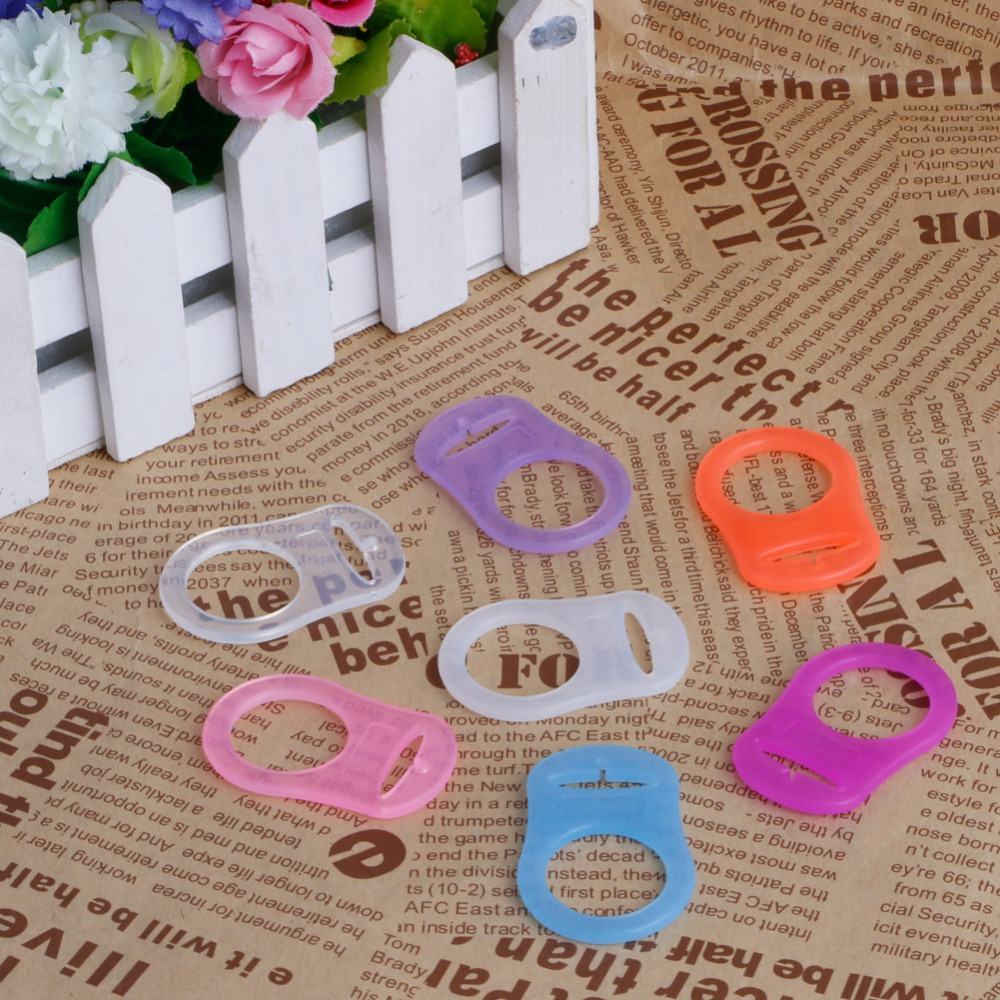5pcs//Set O-Rings Silicone Baby Dummy Pacifier Chain Clips MAM Adapter Holder  GD