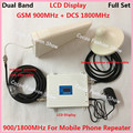 ЖК-DCS 1800 МГц 2 Г 900 МГц GSM Repetidor Сигнала Ретранслятора Dual Band GSM 2 Г 4 Г FDD Мобильный Телефон Усилитель Сигнала Усилителя ретранслятор