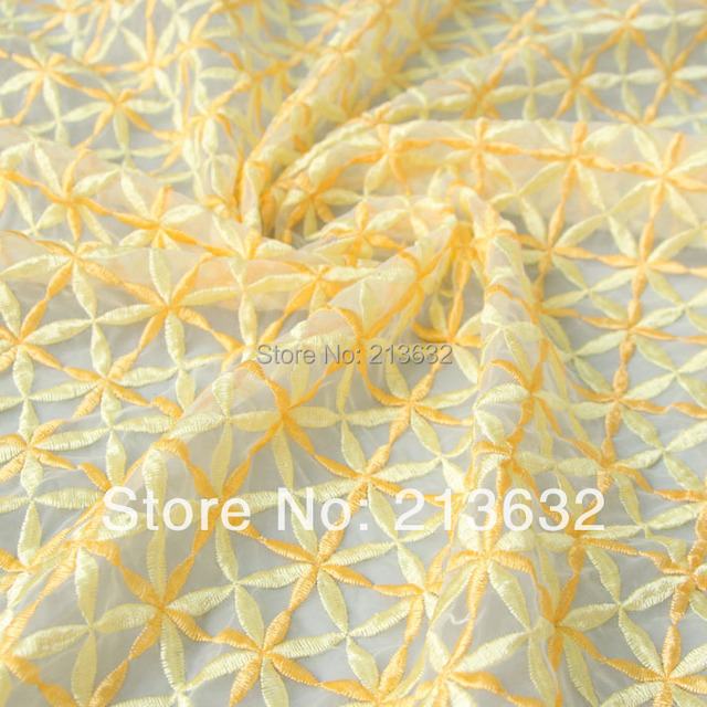 D po66 The new fashion organza embroidered fabric spot wholesale fashion home textile embroidery cloth electronic Best new
