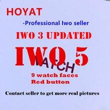 HOYAT IWO 5 Freqüência Cardíaca SmartWatch relógio Inteligente IWO 3 atualizado com botão vermelho fosco caso 9 liga relógios Para iphone 8 X Huawei