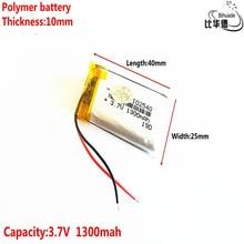 Хорошее качество 3,7 в, 1300 мАч 102540 полимерный литий-ионный/литий-ионный аккумулятор для планшетных ПК банка, gps, mp3, mp4