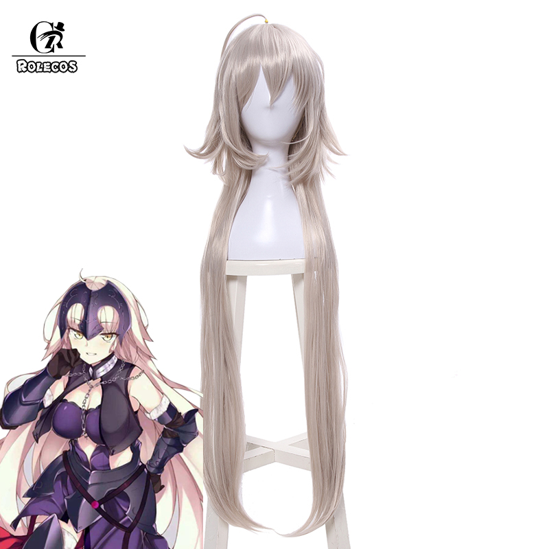 ROLECOS Jeanne d'Arc Cosplay Headwear Fate Grand Order FGO Cosplay Synthetic Hair Long 95cm/37.4 inches Alter Cos Women