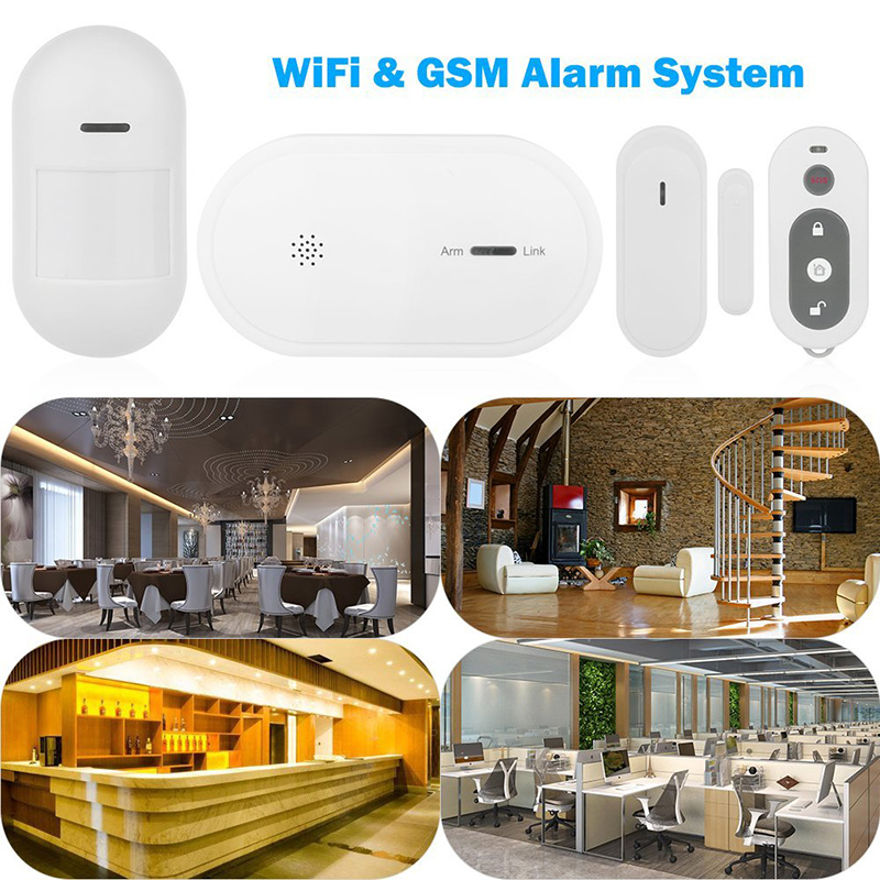 High Sensitive Wireless APP GSM IOS Android APP Remote Control wifi Alarm System Burglar Alarm Home Burglar alarm system kit wolf guard wifi wireless 433mhz android ios app remote control rfid security wifi burglar alarm system with sos button