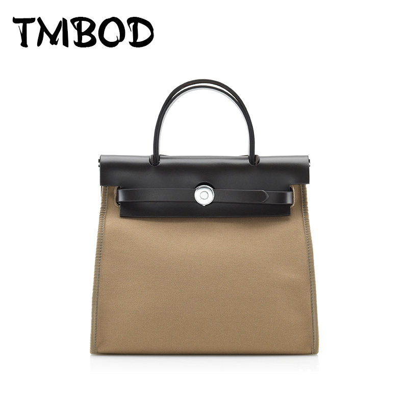 New 2018 Fashion Design Patchwork Tote Messenger Bag Women Canvas & Genuine Leather Handbags For Female Crossbody Bags an509 zency new women genuine leather shoulder bag female long strap crossbody messenger tote bags handbags ladies satchel for girls