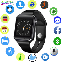 BANGWEI 2018 New Women Men Smart Watch SIM TF Phone Call Music Player LED Sport Sleep Monitor For Android+Box