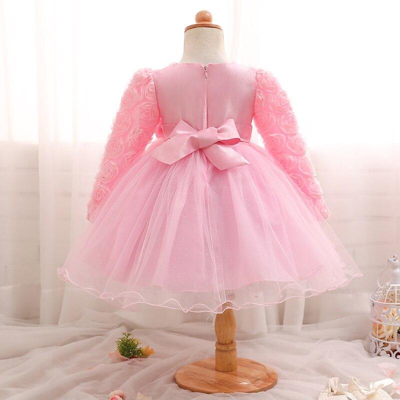 Rosa dulce bebé recién nacido flor vestido de boda Fancy 1st 2nd ...