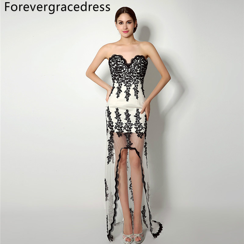 Forevergracedress Real Photos Sexy High Low   Prom     Dress   Gorgeous Sweetheart Party Gown Plus Size Custom Made