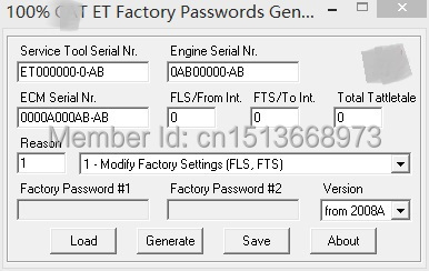 US $744 0 7% OFF Aliexpress com : Buy 100% ET FACTORY PASSWORDS GENERATOR  v0 2 9 with free DHL shipping from Reliable password generator suppliers on