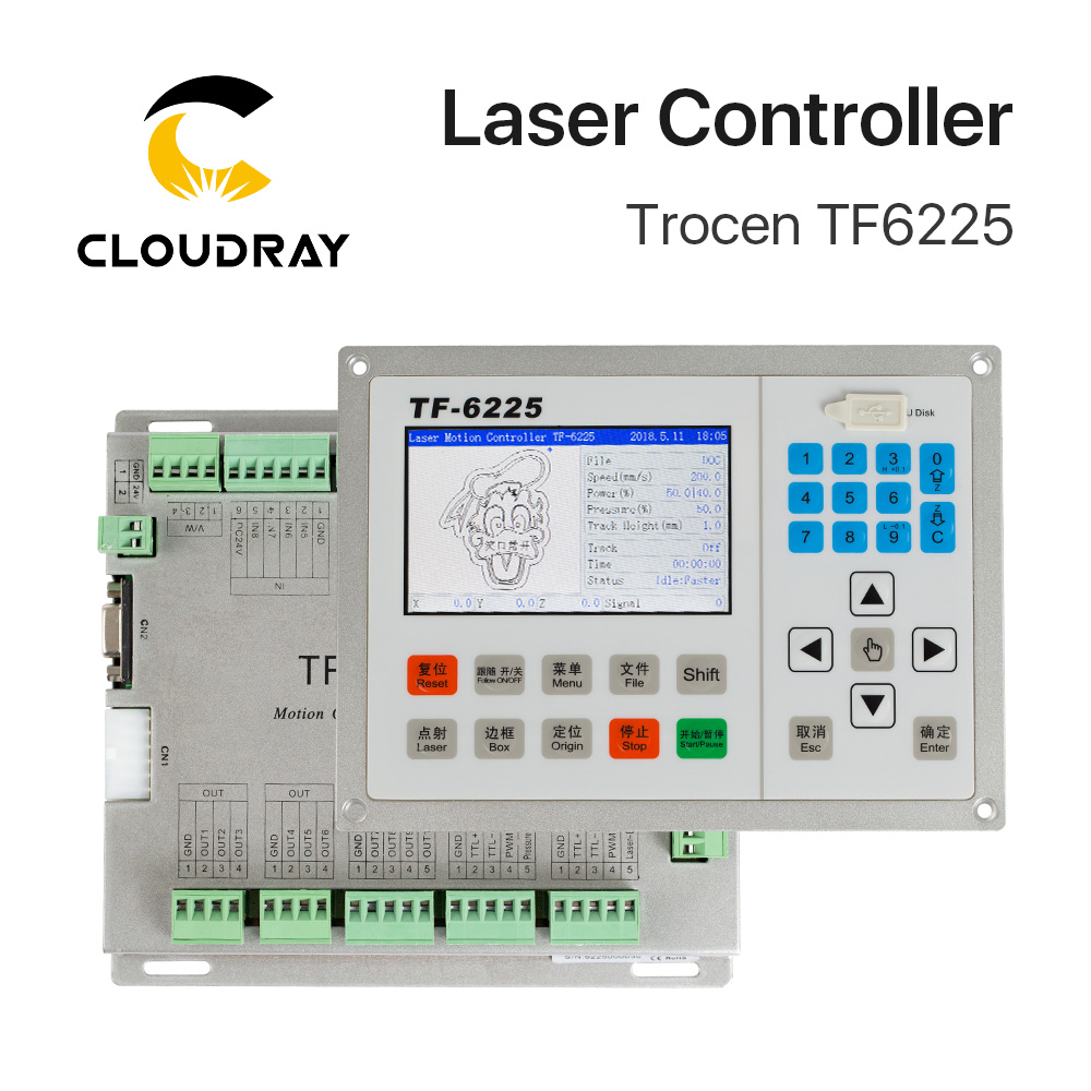 Cloudray Trocen Anywells TF6225 Co2 Laser Controller System For Laser Engraving And Cutting Machine