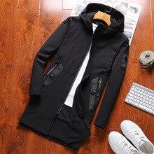 Плюс Размеры 4XL с капюшоном воротник осень ветровка Пиджаки мужские Куртки 125