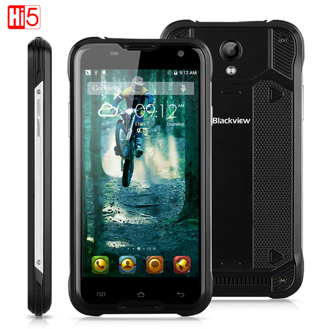 "Original Blackview BV5000 Mobile Phone 5"" MTK6735 Quad Core 2GB RAM 16GB ROM GPS 5000mAH Battery Waterproof Smartphone IP67"