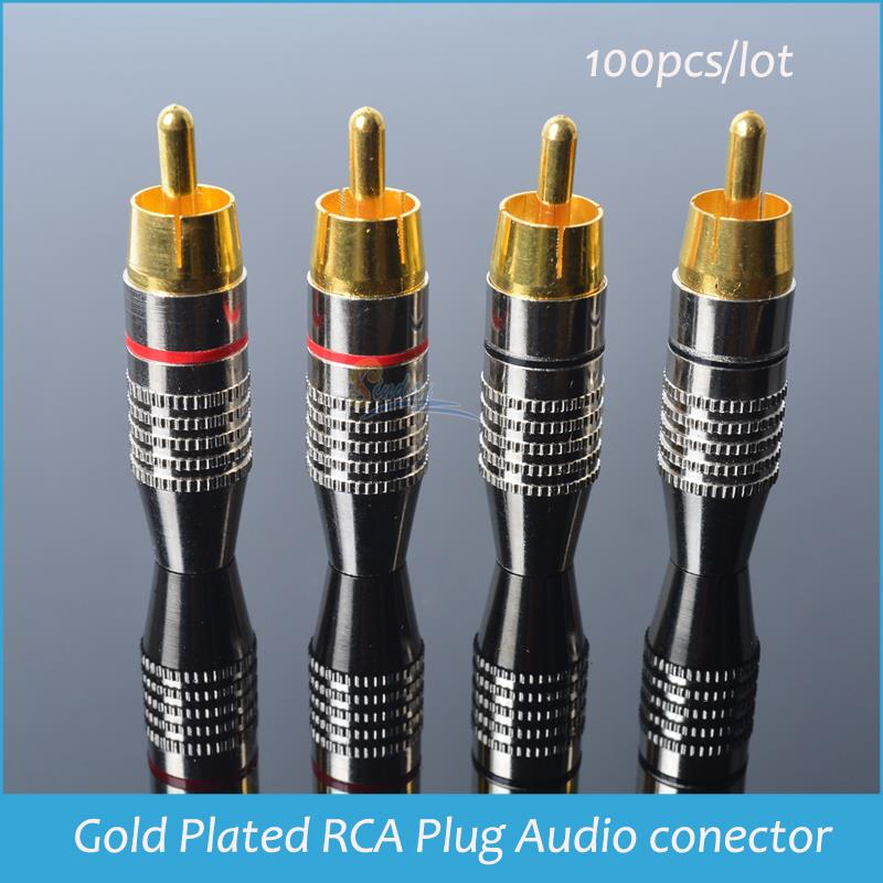 Sindax Solderless RCA Connector Gold Plated RCA Plug Audio Conector Gold Plated RCA Jack Lotus RCA