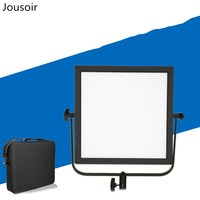 Photo LED flat panel soft light, Lee Shuai LED518AS dual color temperature photo shoot interview portable battery pack