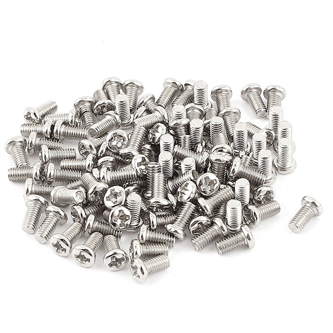 100pcs <font><b>M3x6mm</b></font> Recessed Crosshead Cross Head Threaded Screw Fasten Bolt image
