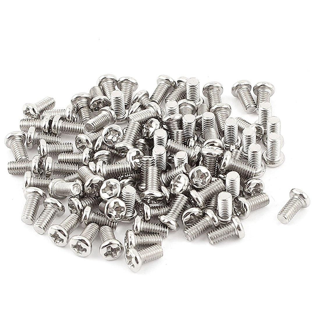uxcell M4x10mm Machine Screws Pan Phillips Cross Head Screw 304 Stainless Steel Fasteners Bolts 60Pcs