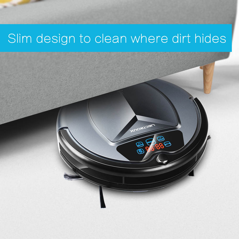 LIECTROUX B3000 Robot Vacuum Cleaner, With Tone,Schedule,Virtual Blocker,Self Charge,Remote Control,LED Touch Button,HEPA Filter