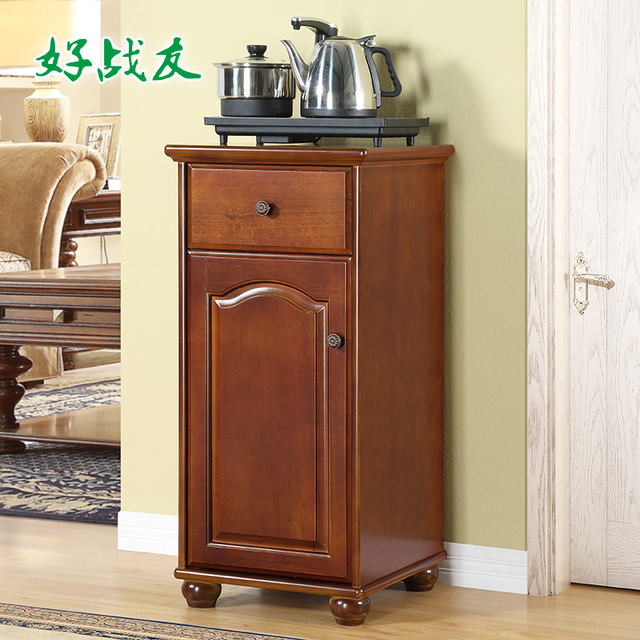 Good Fellow American Minimalist Wood Cabinets Multifunction Drinking Tea Cabinet Office Vat Vertical Water Dispenser
