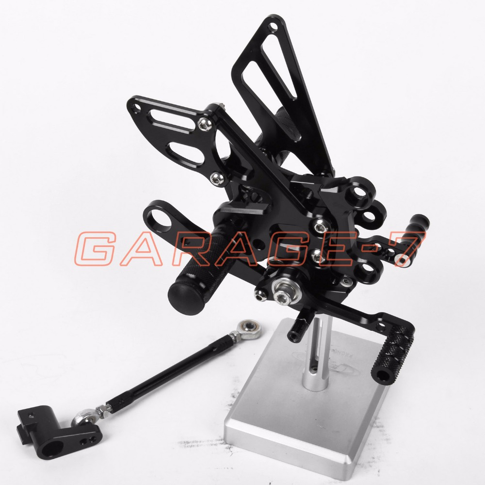 Rearsets Foot Pegs Rear Set Black Color For Aprilia RSV4 2009-2012 2011 2010 Hot Sale High Quality Motorcycle Accessory CNC