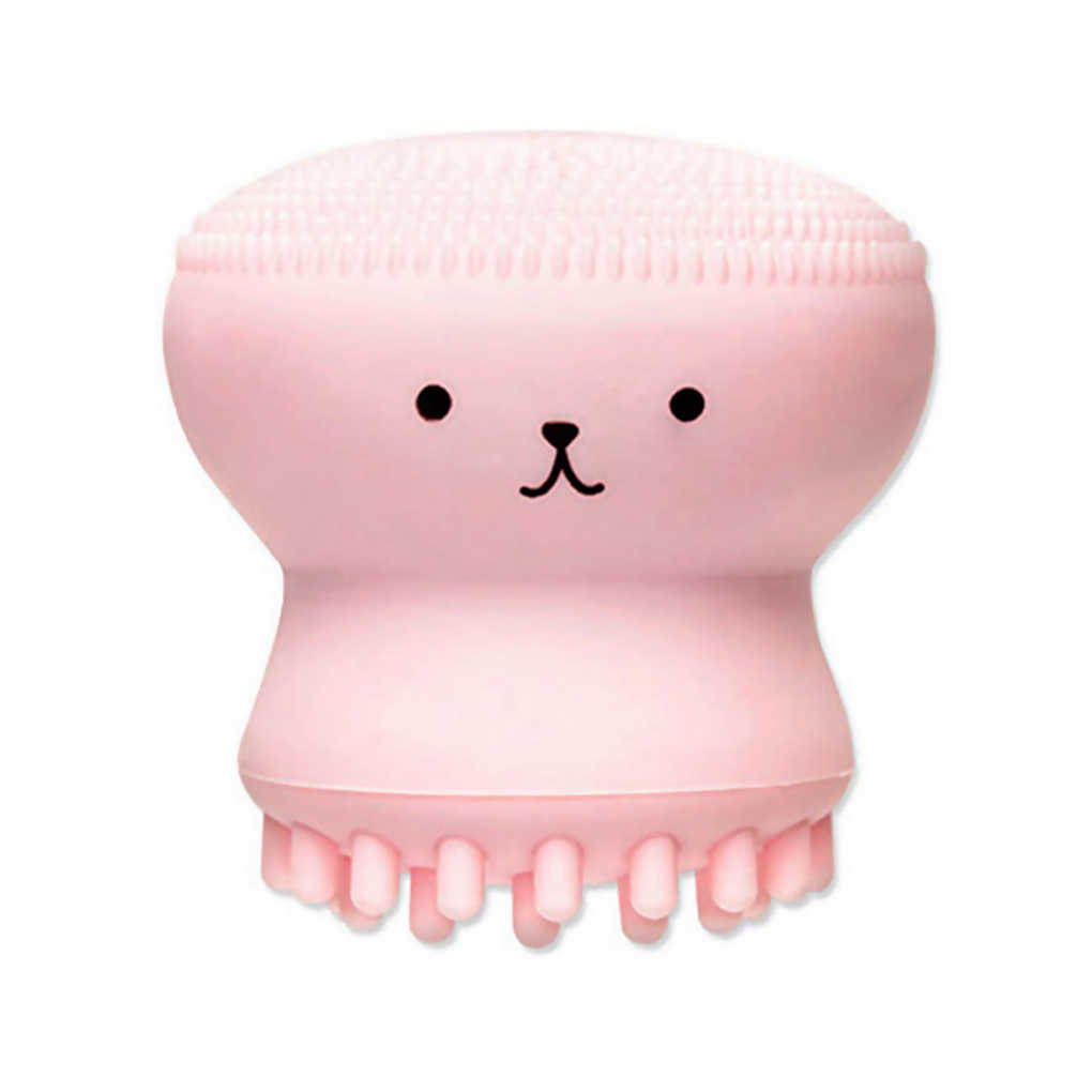 Venda quente 1pc dos desenhos animados bonito esfoliador de limpeza facial bonito sílica gel massagem limpeza profunda rosto escova limpador