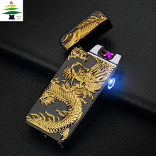luxury brand plasma cigarette  usb arc pulse flameless charge lighter cool gift to friend