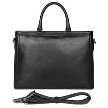 Genuine Leather Briefcases Men Fashion Business Bag First Layer Cow Handbag for 14 inch Laptop 7404A
