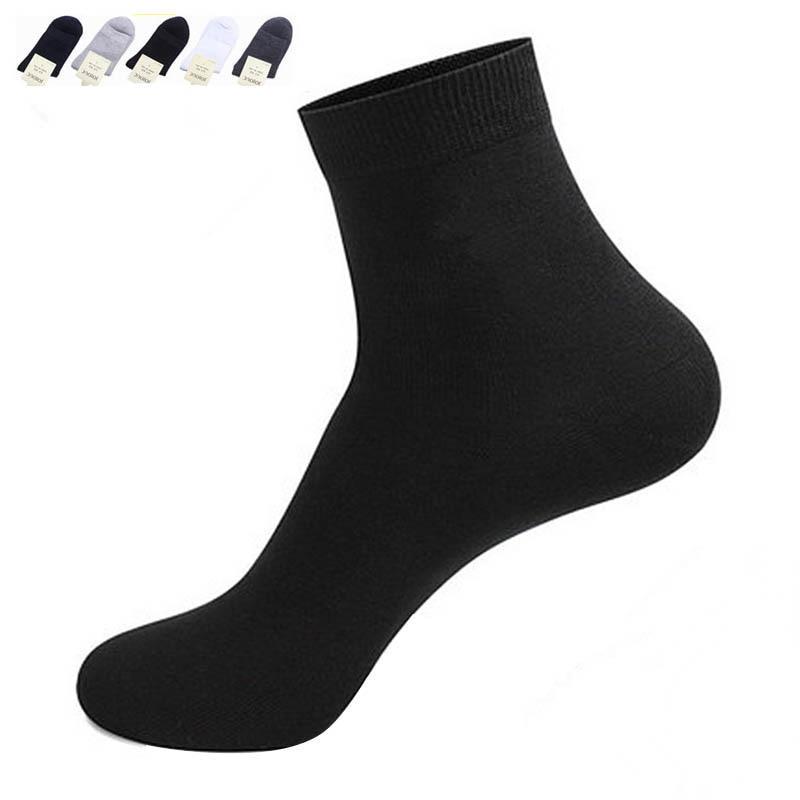 5 Pairs Men Sock Casual Pure Cotton Beard Pattern Tube Sock Men Fashion Solid Color Funny Happy 2018 Hot Sale Popular Men Sock