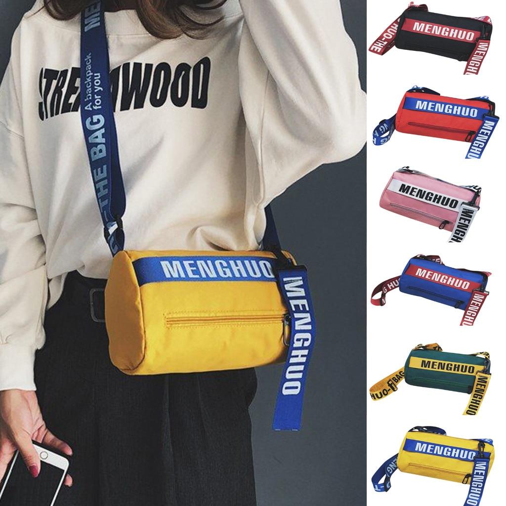 Crossbody-Bags Hand-Bag Trendy Color Summer Women Ladies for Collision Hip-Hop Letter