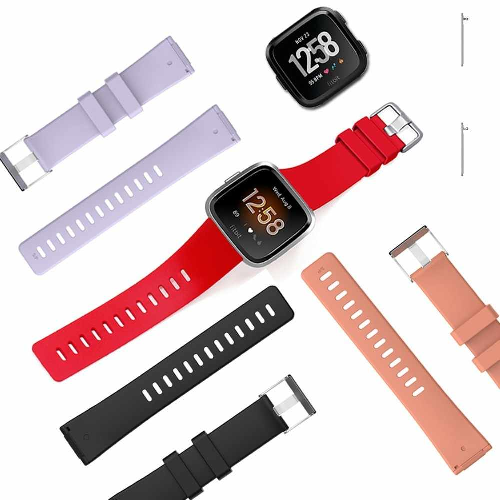 Coolaxy سيليكون استبدال الفرقة ل Fitbit فيرسا لايت حزام الرياضة ساعة ذكية أسورة يد حزام ل Fitbit فيرسا الفرقة