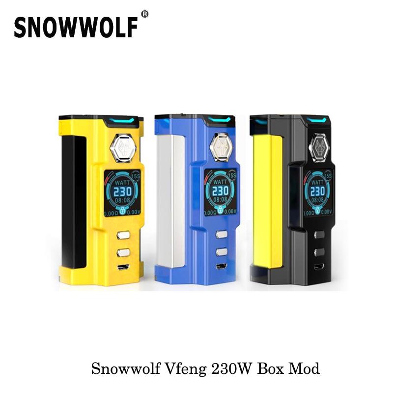 230 W Original cigarette électronique Sigelei Snowwolf Vfeng Kit de démarrage boîte Mod 510 filetage 2017 mécanique Mod Vape vaporisateur