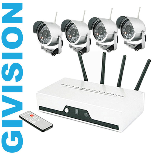 2.4GHz cctv wireless security digital camera system night vision ...