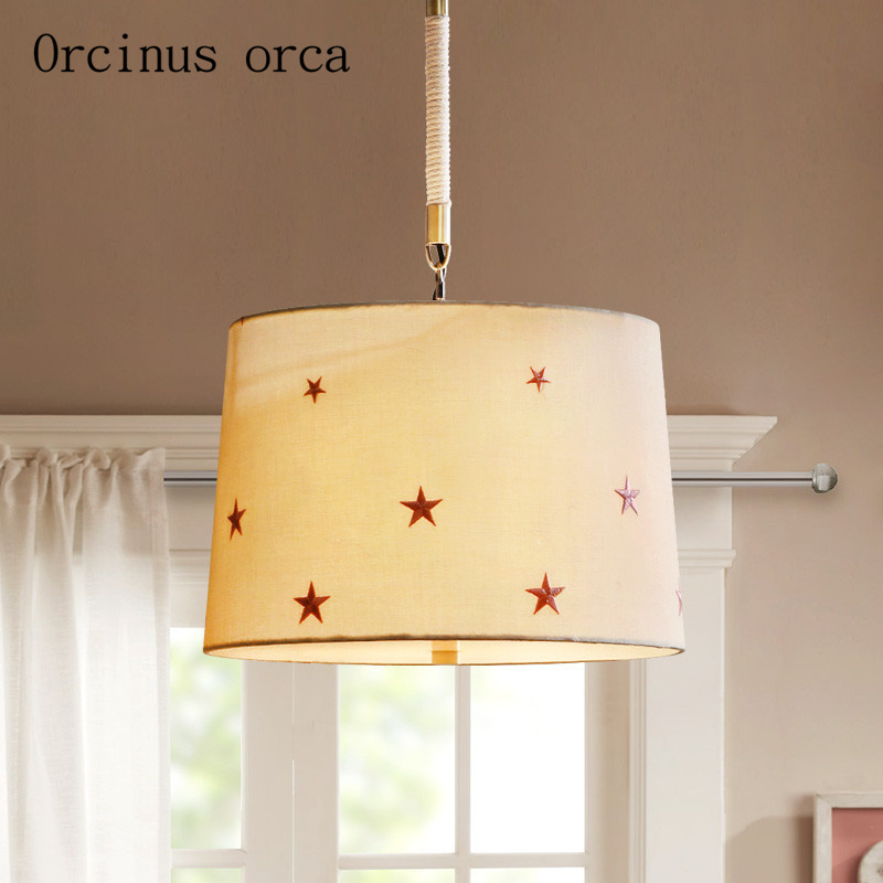 American Modern Minimalist Furniture Chandelier Living Room Children's Room  Romantic And Warm Star Chandelier Free Shipping
