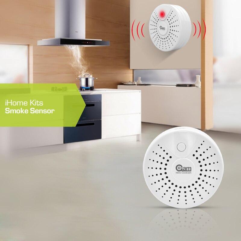 НЕО COOLCAM NAS-SD01T Беспроводной пожарный Сенсор детектор Smat сигнализации дома Системы интеллектуальные Модули автоматизации