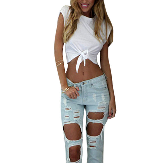 33e9ad006abcf 2019 Fashion Sexy Summer Navel Exposed Short Hip-Hop Cool Tee Women Crop  Tops 2