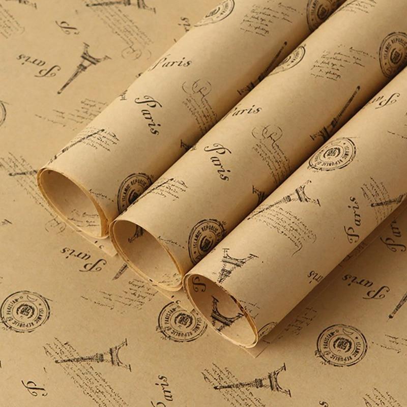 "Eiffel Tower Design on White tissue-30 sheets 20/"" x 30/"" Gift Wrap Tissue Paper"