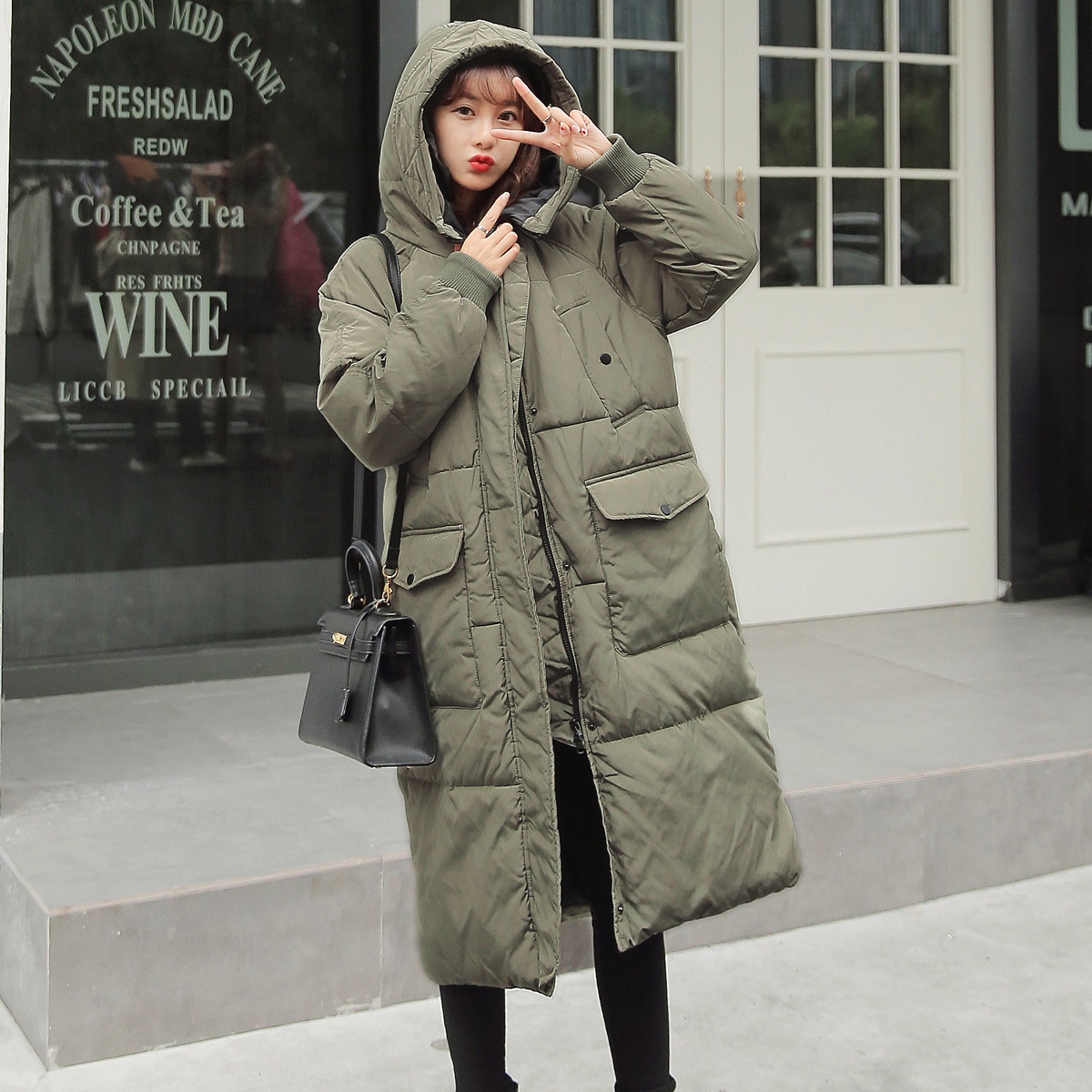 2017 Fashion Women Winter Warm Thicken Zipper Coat Cheap Chinese Quilted Jacket Hooded Palto Korean Solid Military Warm Cloak man woman winter warm cloak windcheater hooded cheap long large jacket thick maxi coat palto parka windbreaker korean overcoat