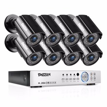 TMEZON 8CH CCTV System 8PCS 1080P Outdoor Weatherproof Security Camera 8CH 1080P DVR Night Vision Kit Video Surveillance System