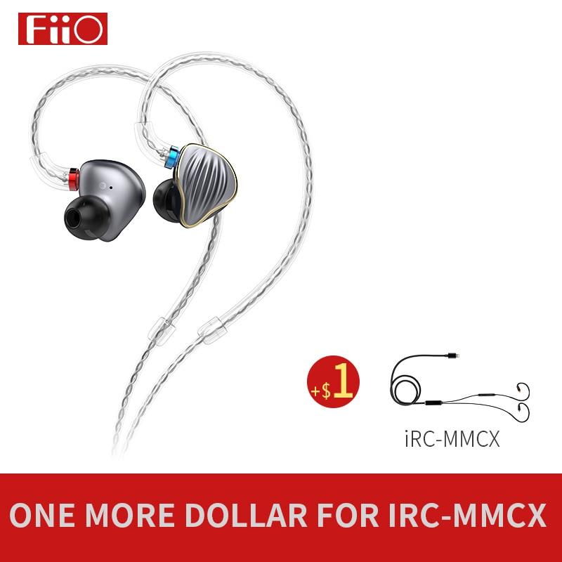 FiiO FH5 Metal Case Knowles Detachable Cable MMCX Design Quad Driver Hybrid HIFI Earphone 3 5mm